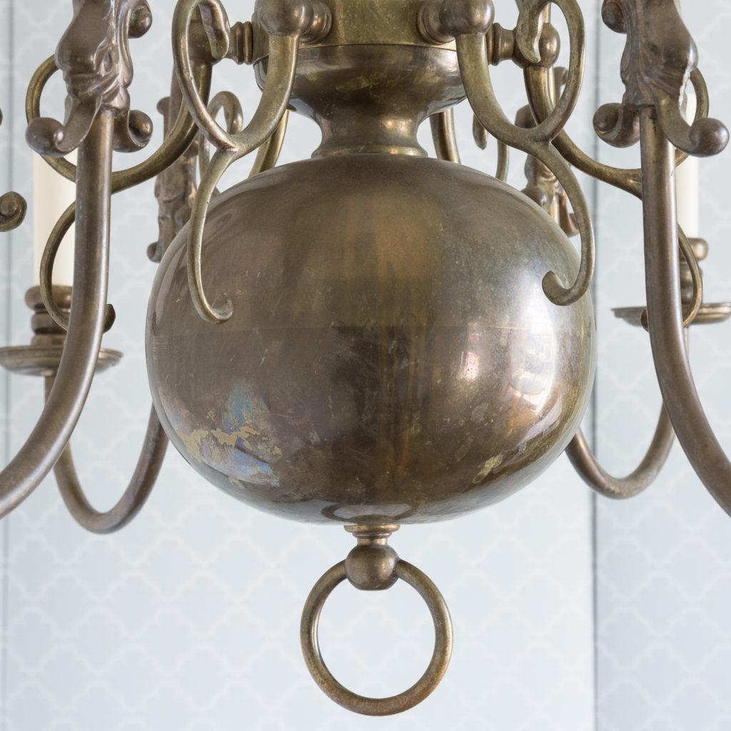 Bronzed Flemish style chandelier,-114911