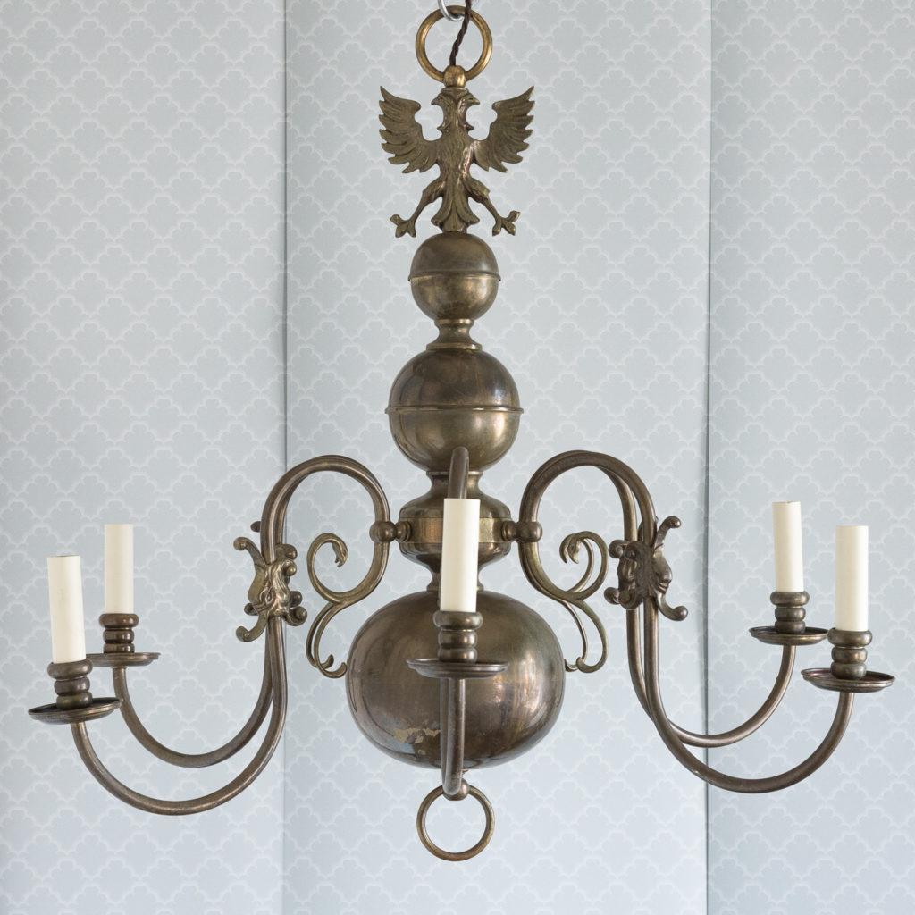 Bronzed Flemish style chandelier,-114913