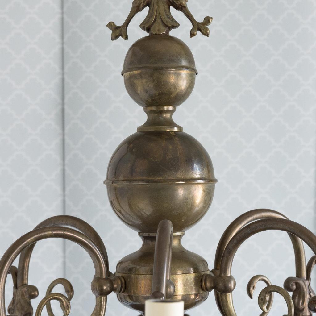 Bronzed Flemish style chandelier,-114917