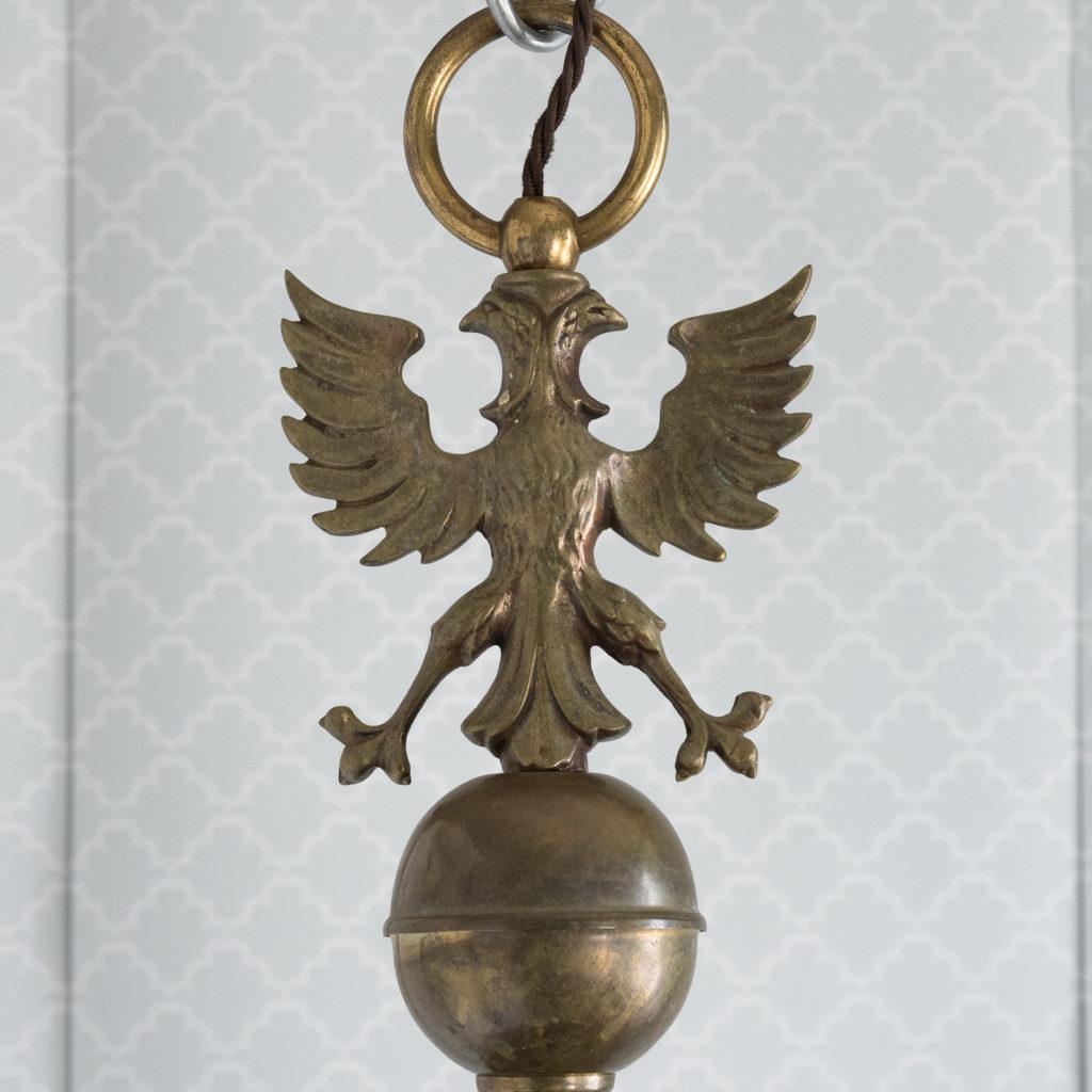 Bronzed Flemish style chandelier,-114914