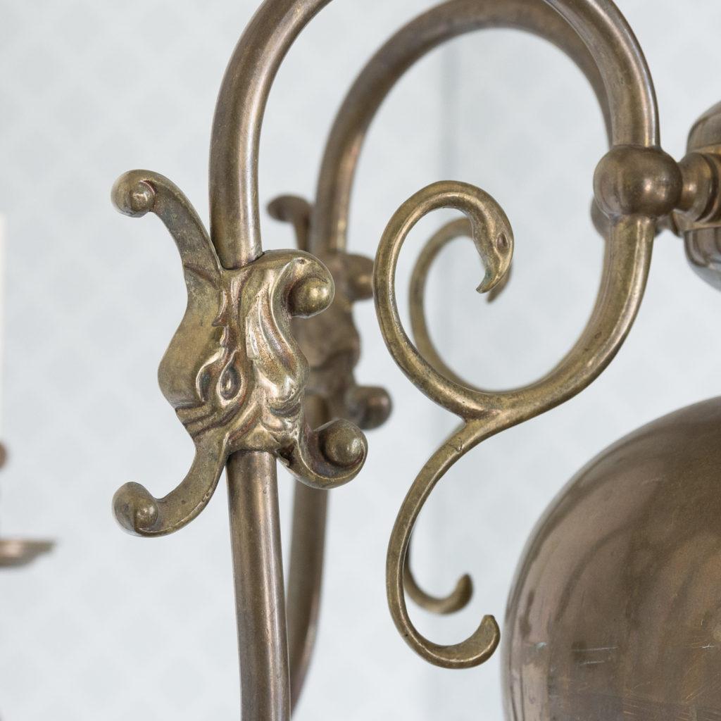 Bronzed Flemish style chandelier,-114912