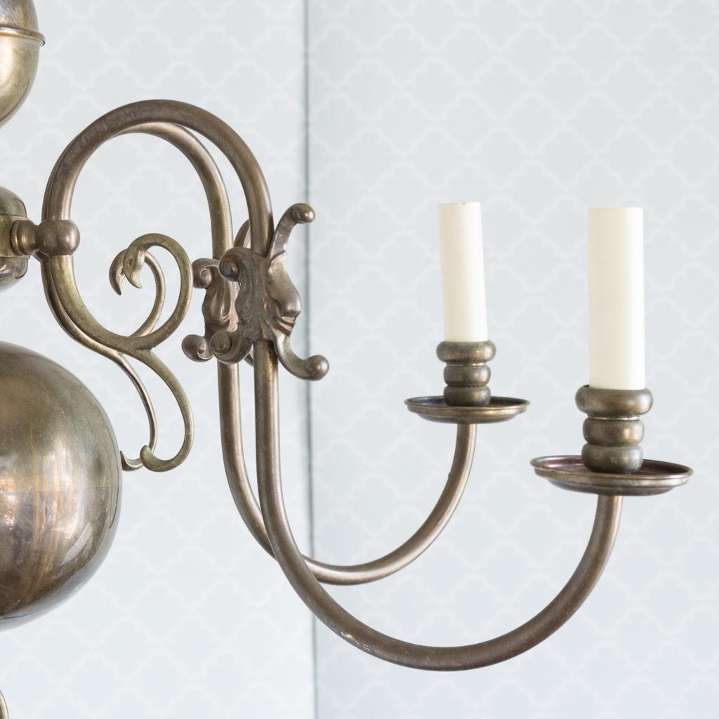Bronzed Flemish style chandelier,-114916