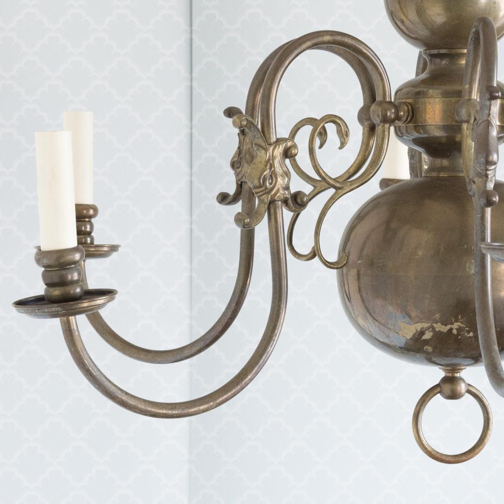 Bronzed Flemish style chandelier,-114918