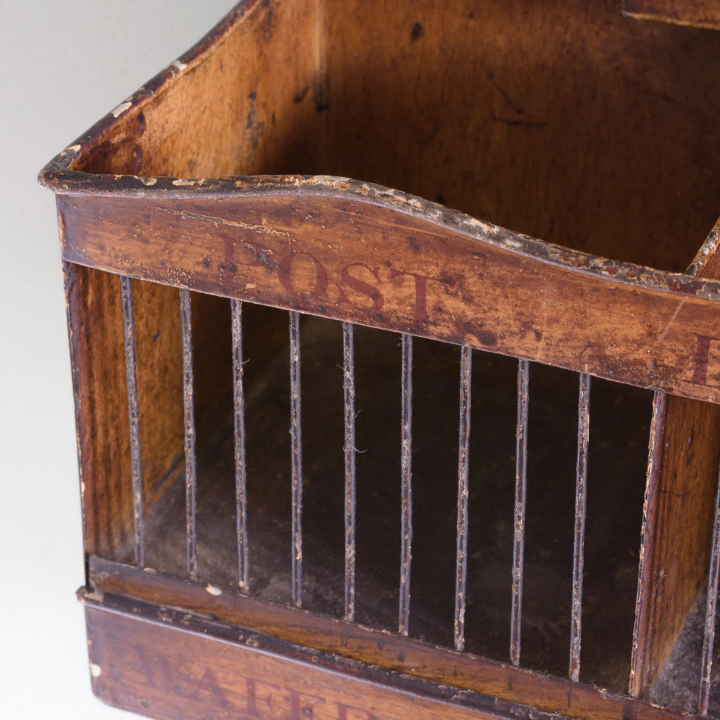 Victorian painted steel post tray,-114880