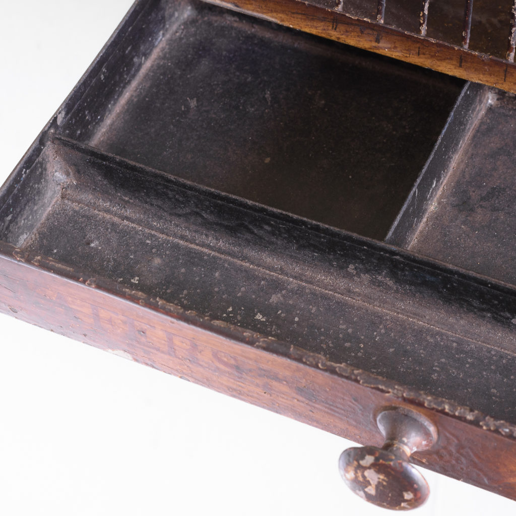 Victorian painted steel post tray,-114882