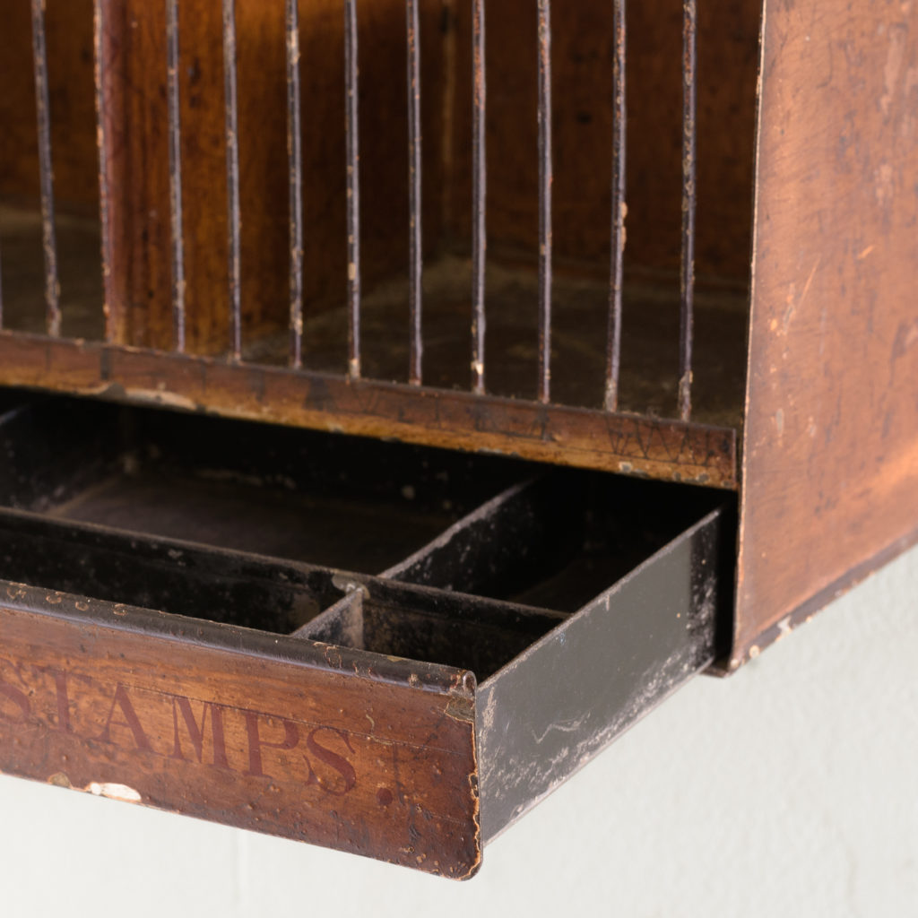 Victorian painted steel post tray,-114885