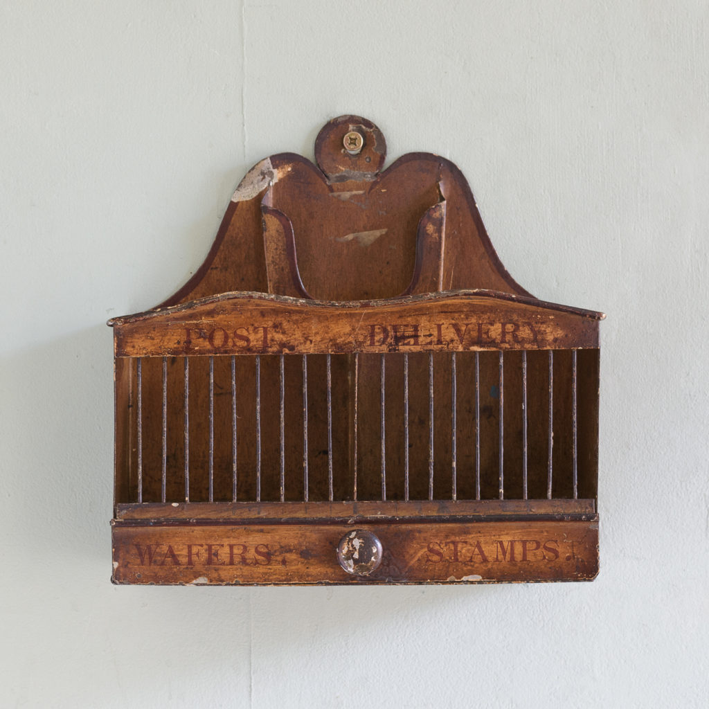 Victorian painted steel post tray,-114884