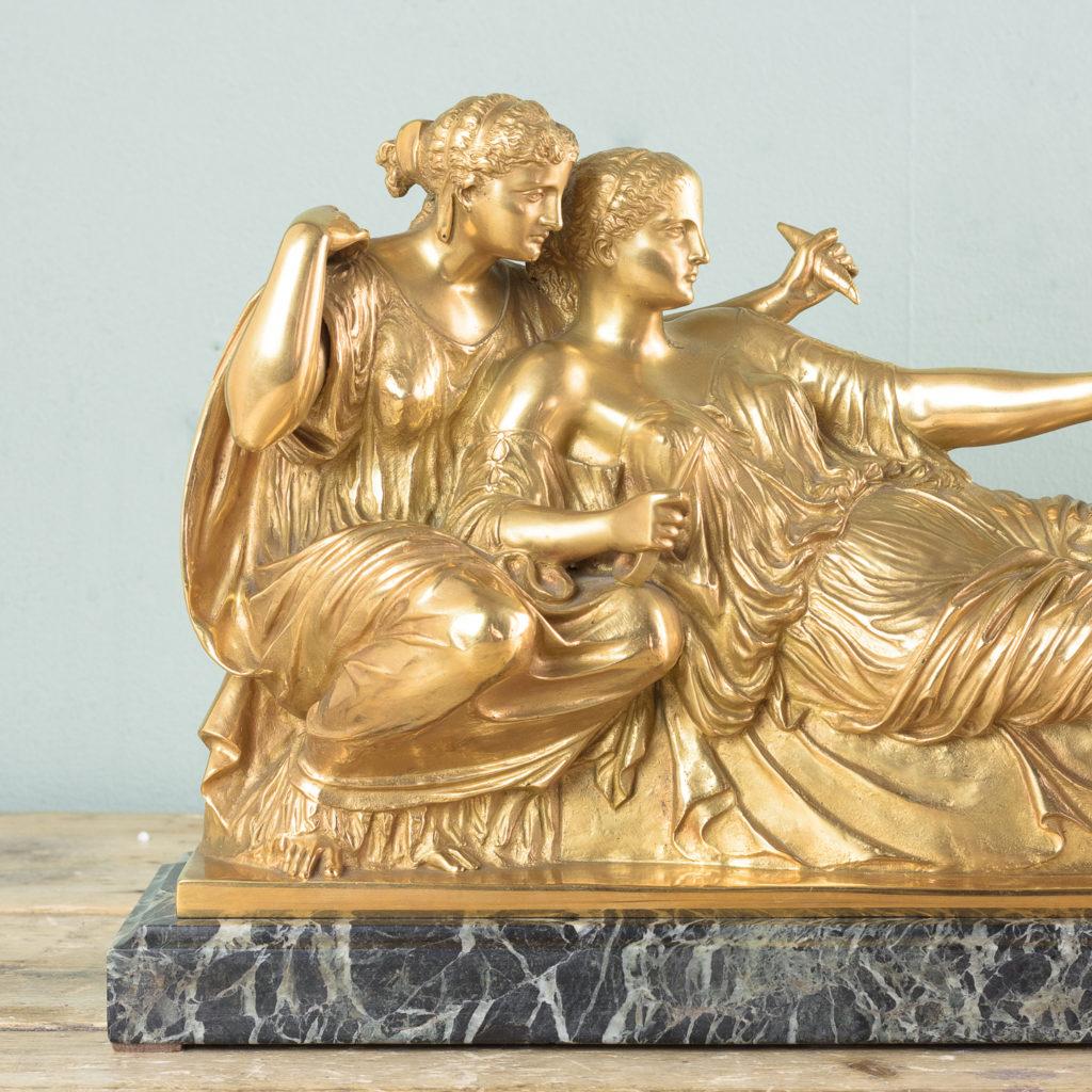 French gilt-bronze model of Les Deux Parques,-114527