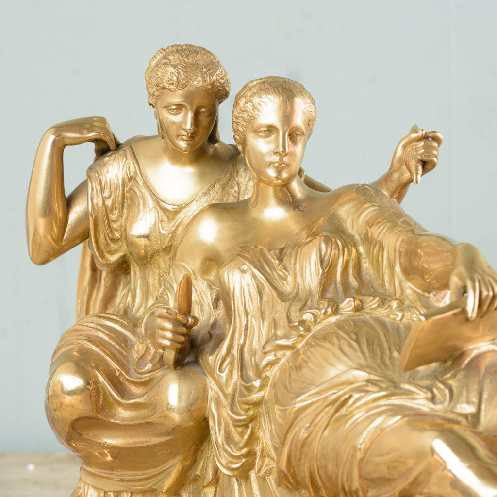 French gilt-bronze model of Les Deux Parques,-114521