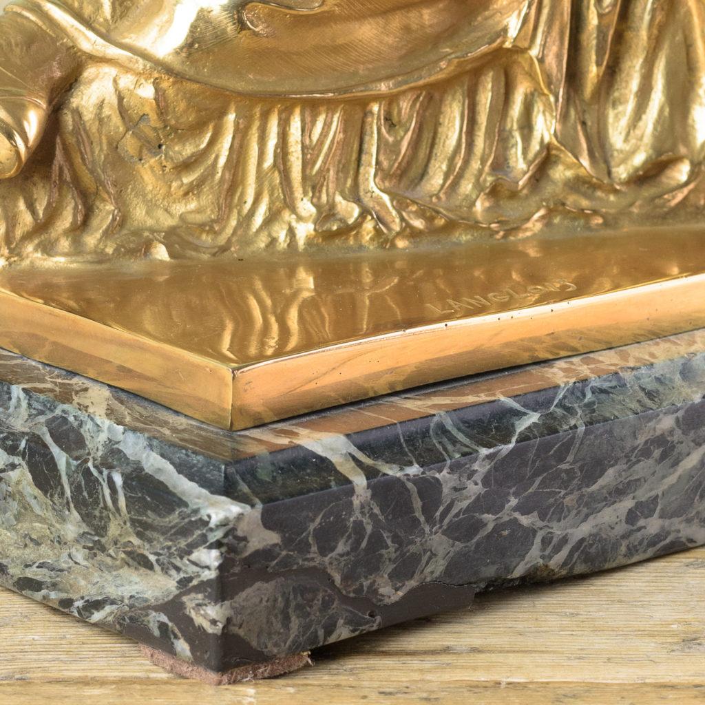 French gilt-bronze model of Les Deux Parques,-114528