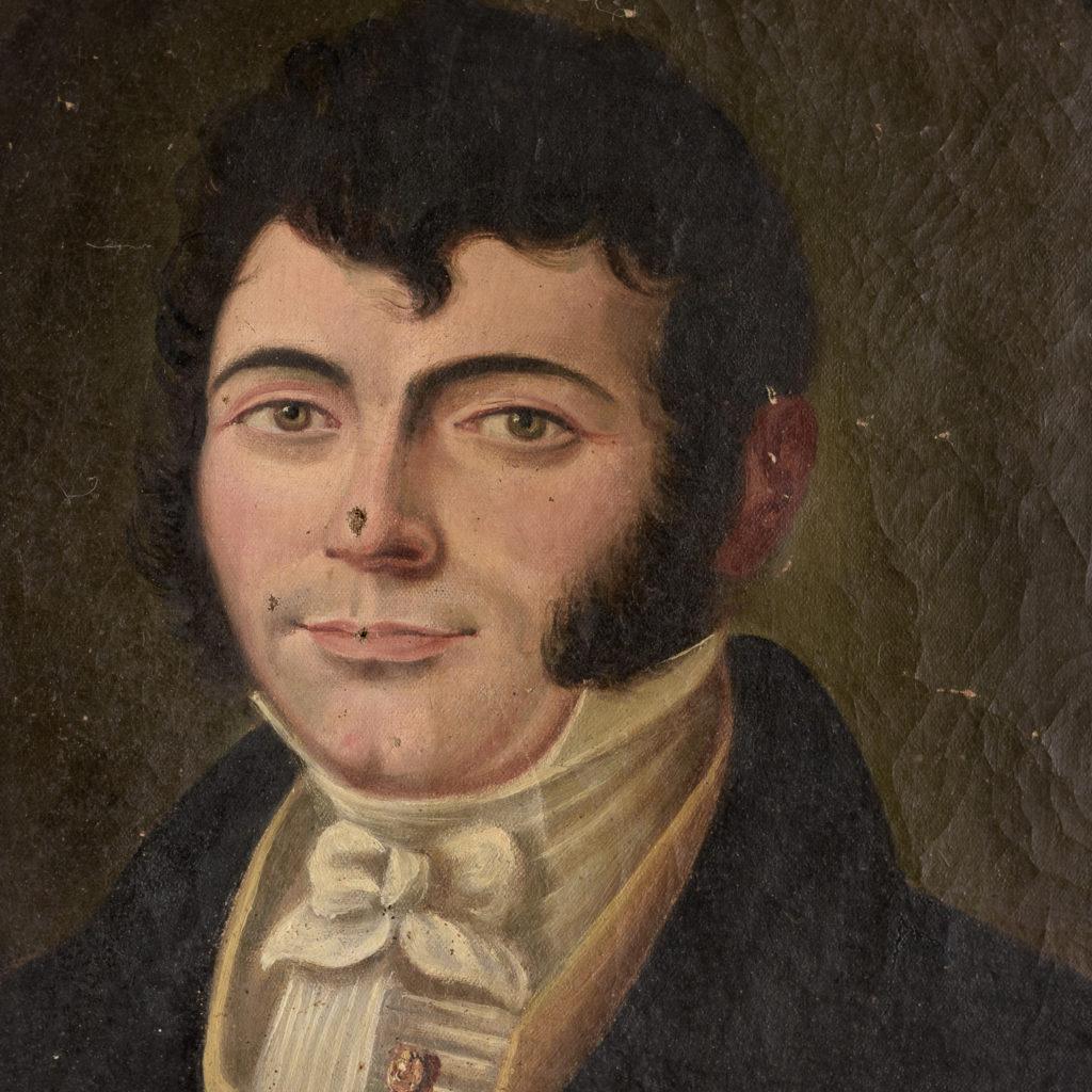 English School, portrait of a gentleman,-114463
