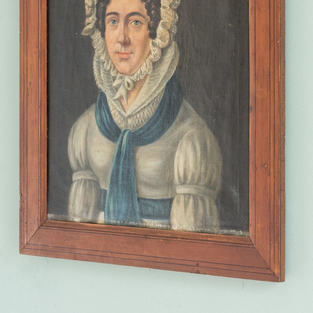 English School, portrait of a lady,-114586