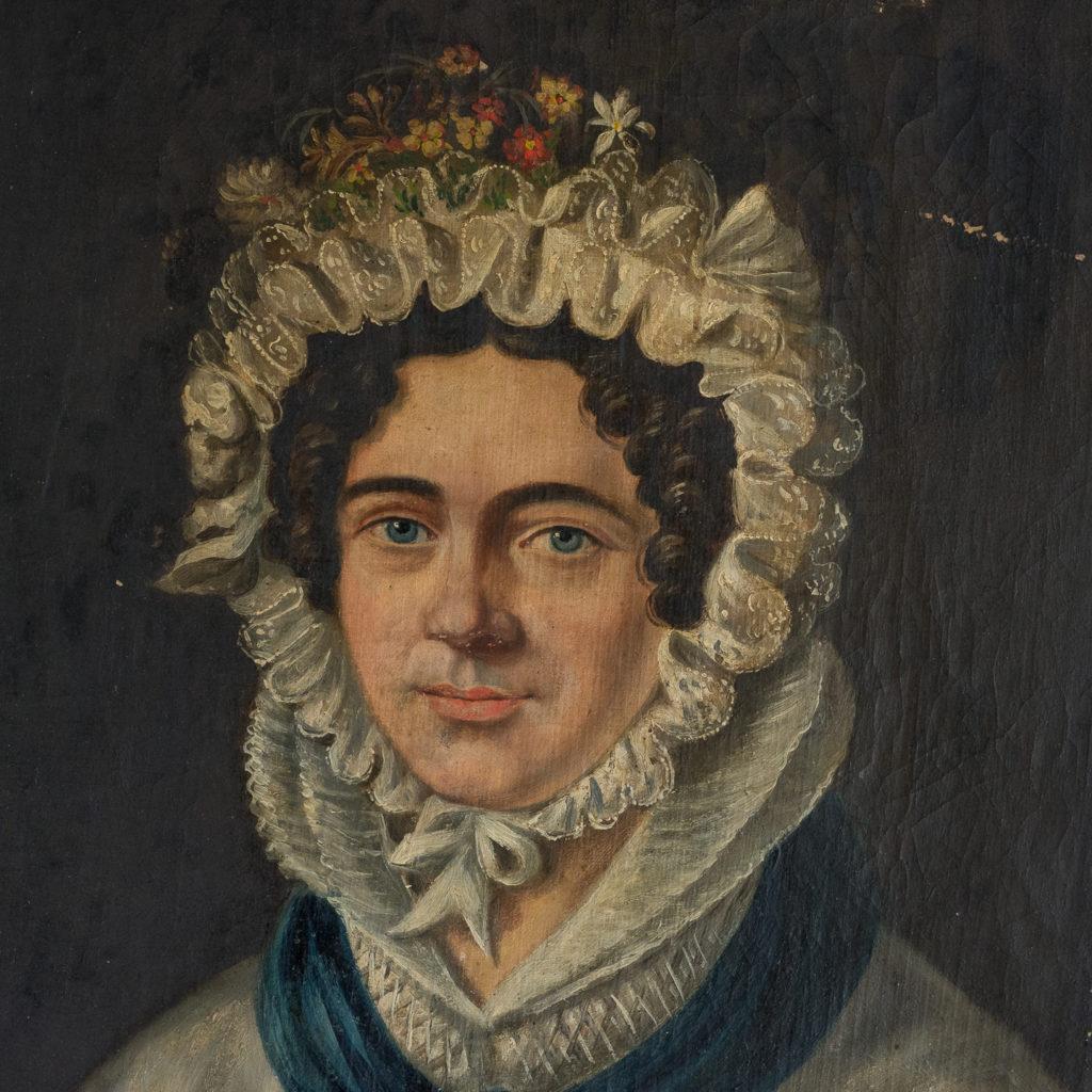 English School, portrait of a lady,-114588