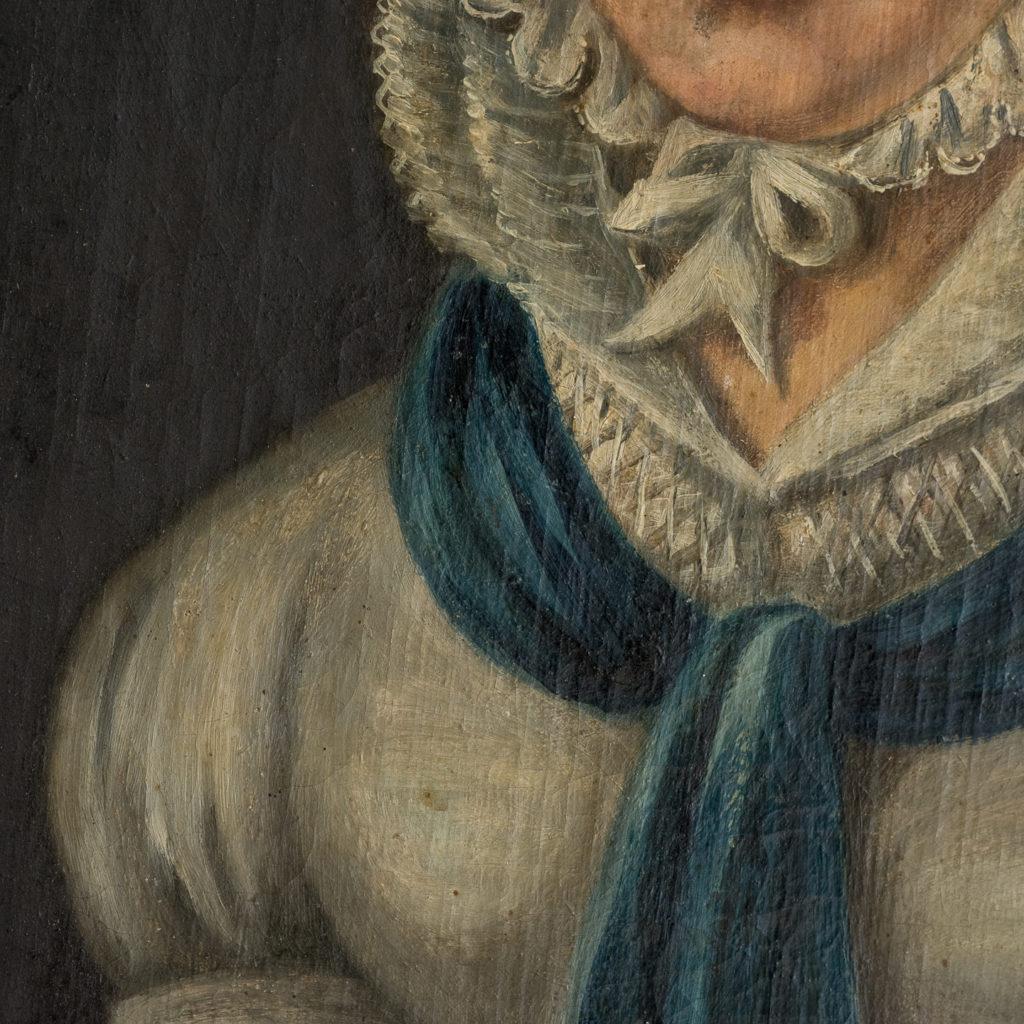 English School, portrait of a lady,-114589