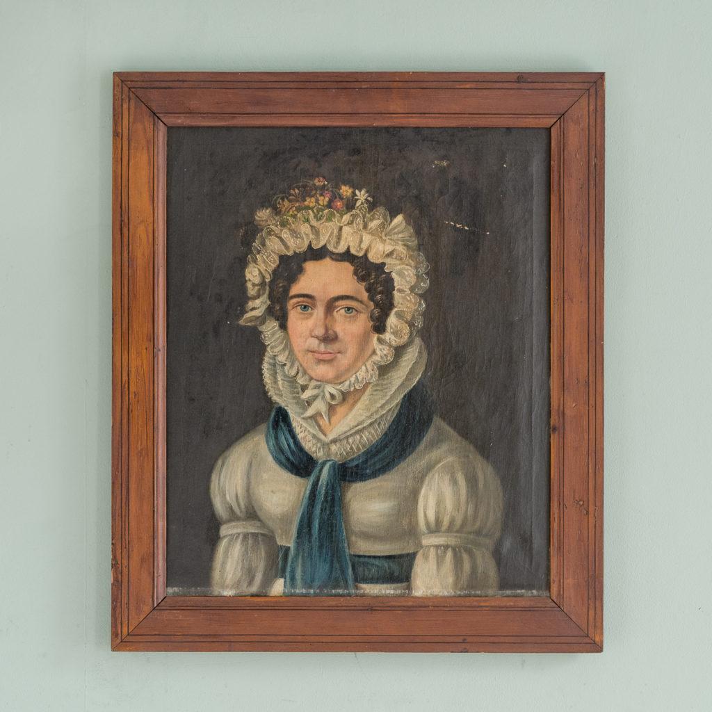 English School, portrait of a lady,-0
