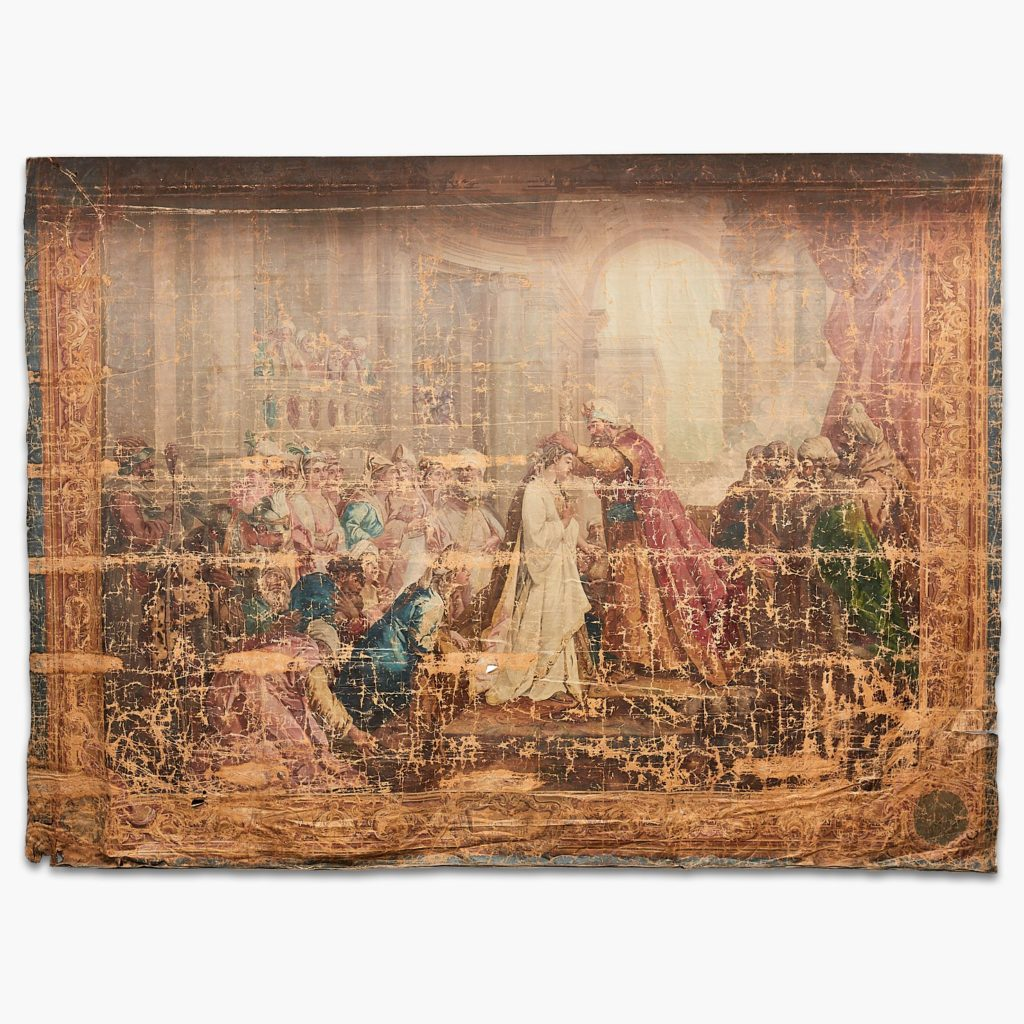 Tapestry Cartoon Depicting 'The Coronation Of Esther'-0