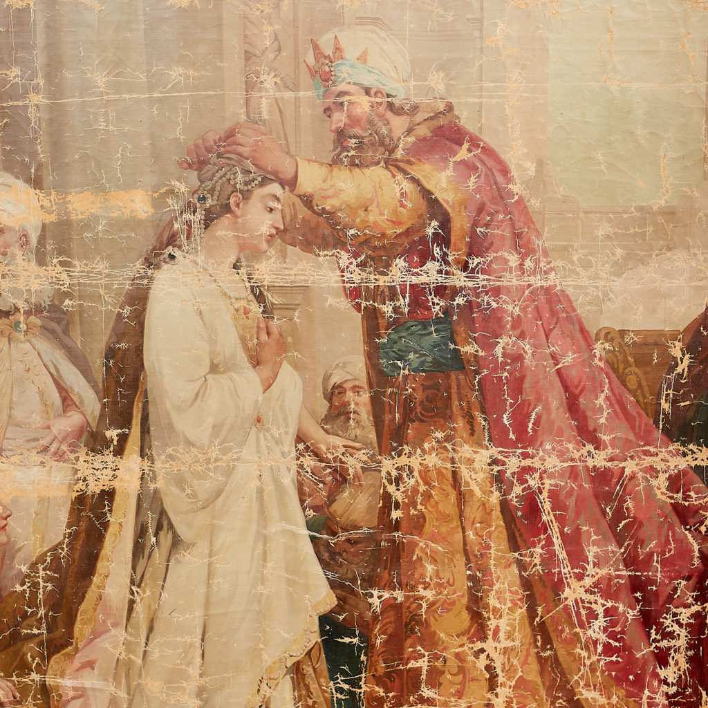 Tapestry Cartoon Depicting 'The Coronation Of Esther'-115874