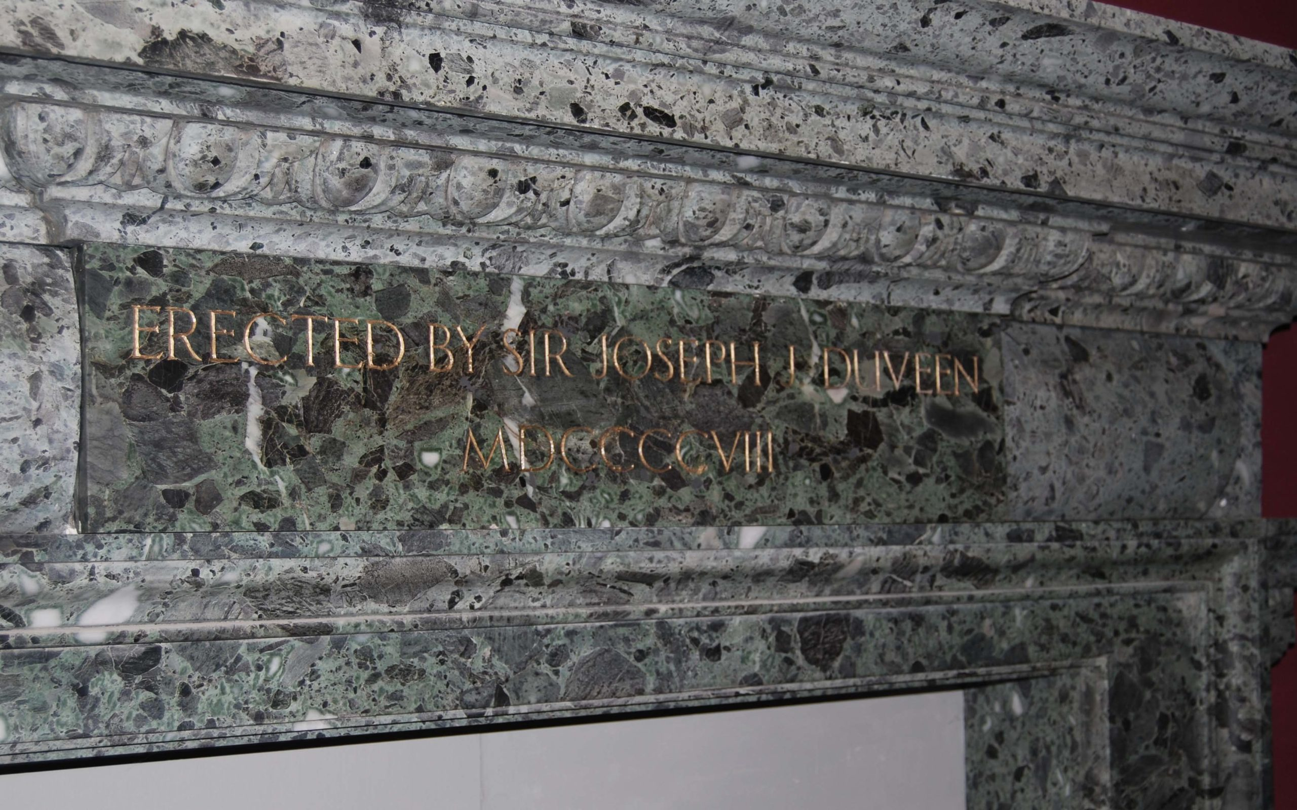 The Duveen Chimneypiece, a massive Edwardian marble fireplace,-132898