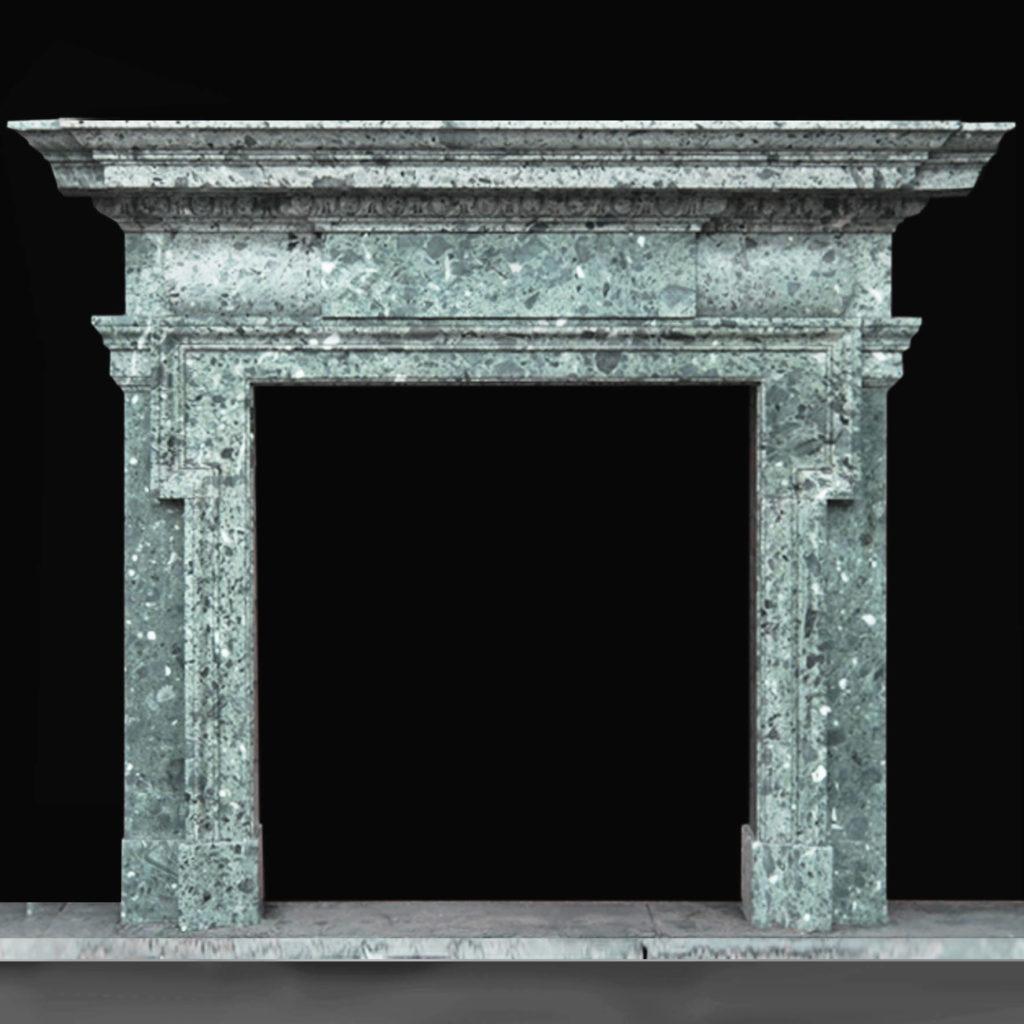 The Duveen Chimneypiece, a massive Edwardian marble fireplace,-0