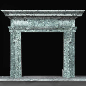 The Duveen Chimneypiece, a massive Edwardian marble fireplace,-0