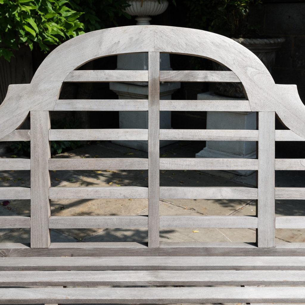 Teak 'Lutyens' style garden bench,-115745