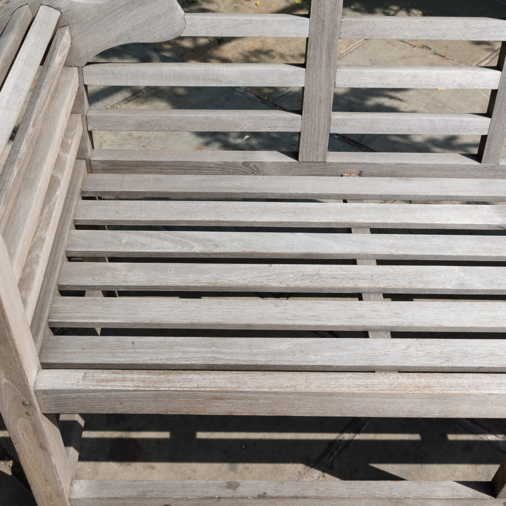 Teak 'Lutyens' style garden bench,-115743