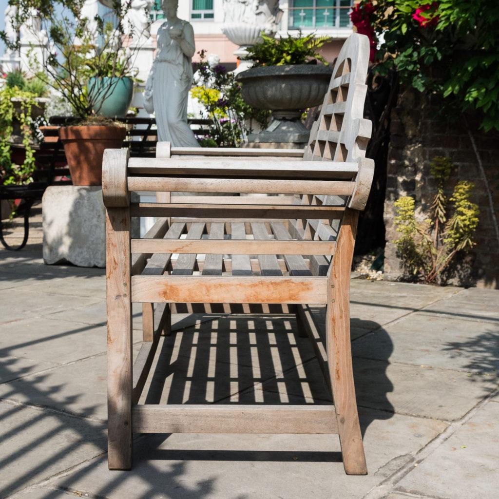 Teak 'Lutyens' style garden bench,-115744