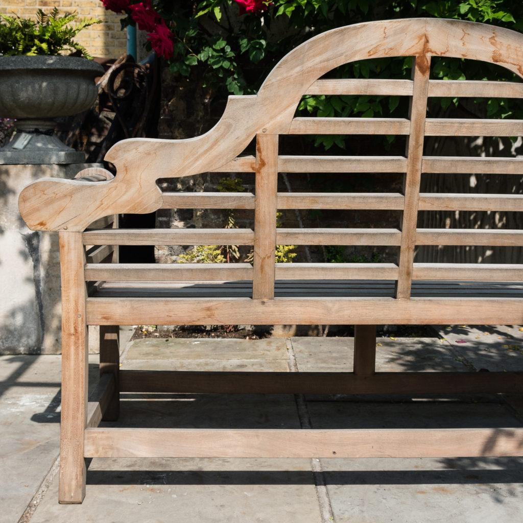 Teak 'Lutyens' style garden bench,-115738