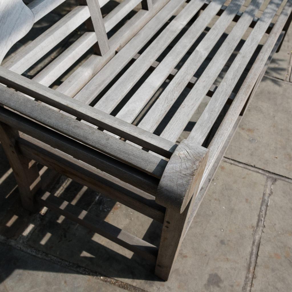 Teak 'Lutyens' style garden bench,-115740