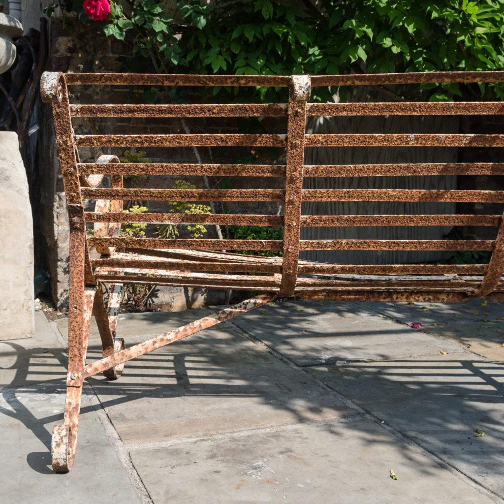 Wrought iron garden bench,-115717