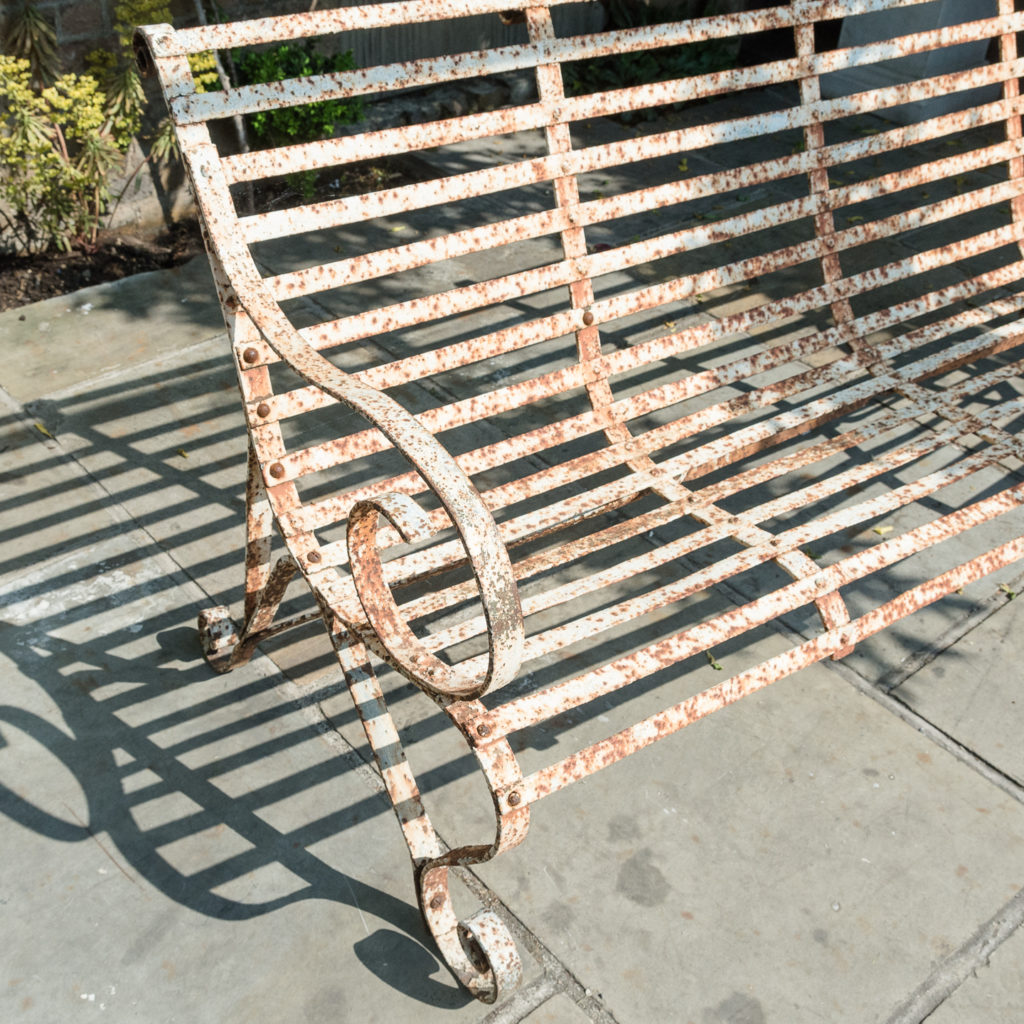 Wrought iron garden bench,-115713