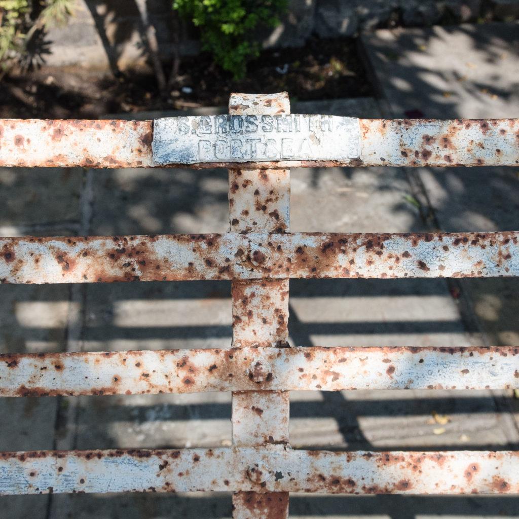 Wrought iron garden bench,-115715