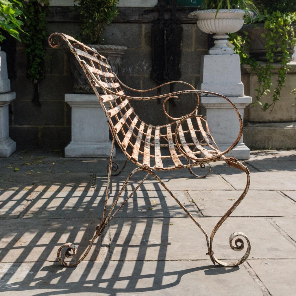 Wrought iron garden bench,-115714