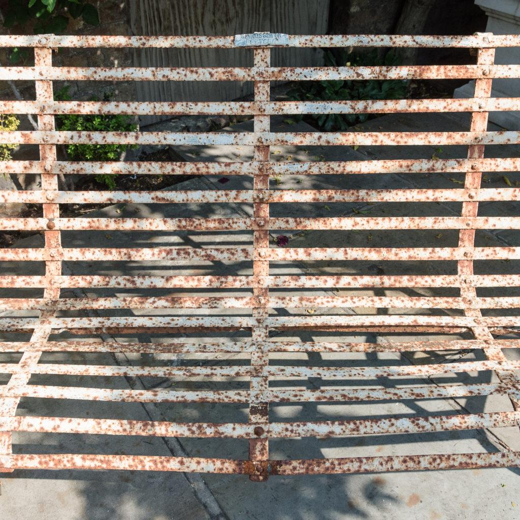 Wrought iron garden bench,-115716