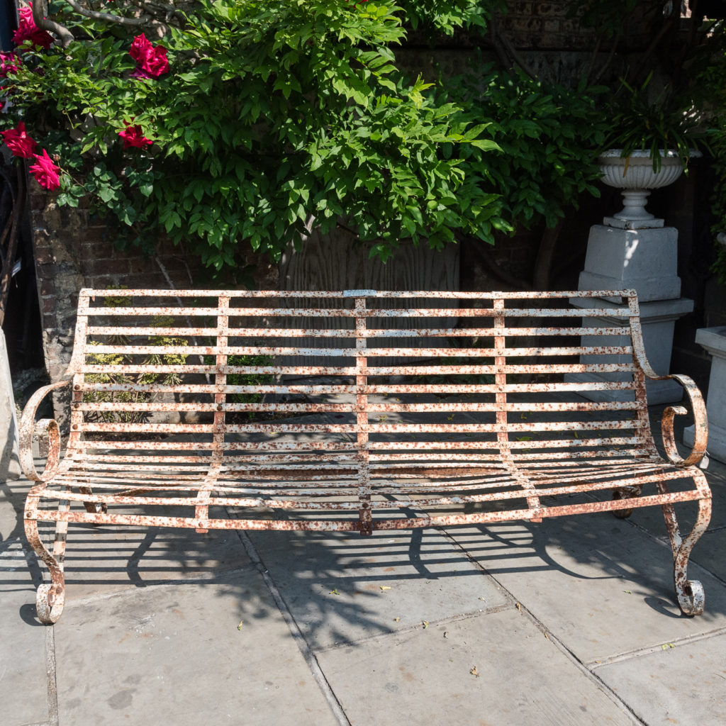 Wrought iron garden bench,-115719