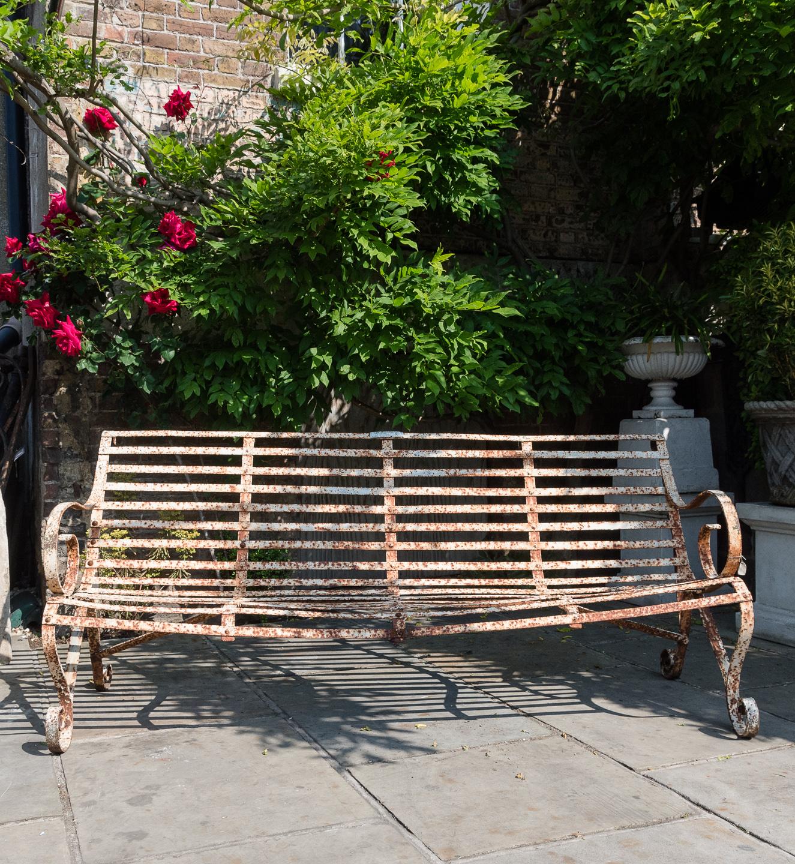 Wrought iron garden bench,-115712