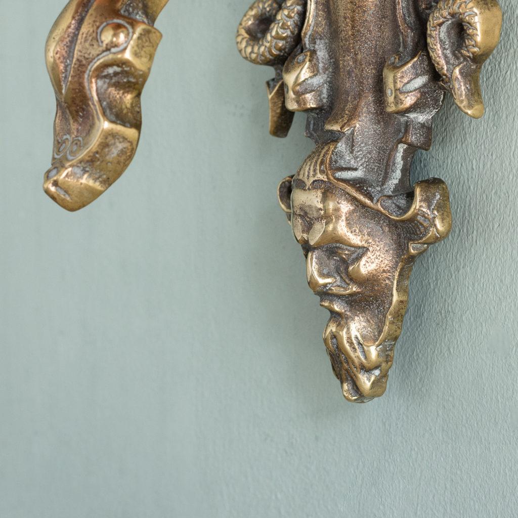 Early Victorian brass door knocker,-115208