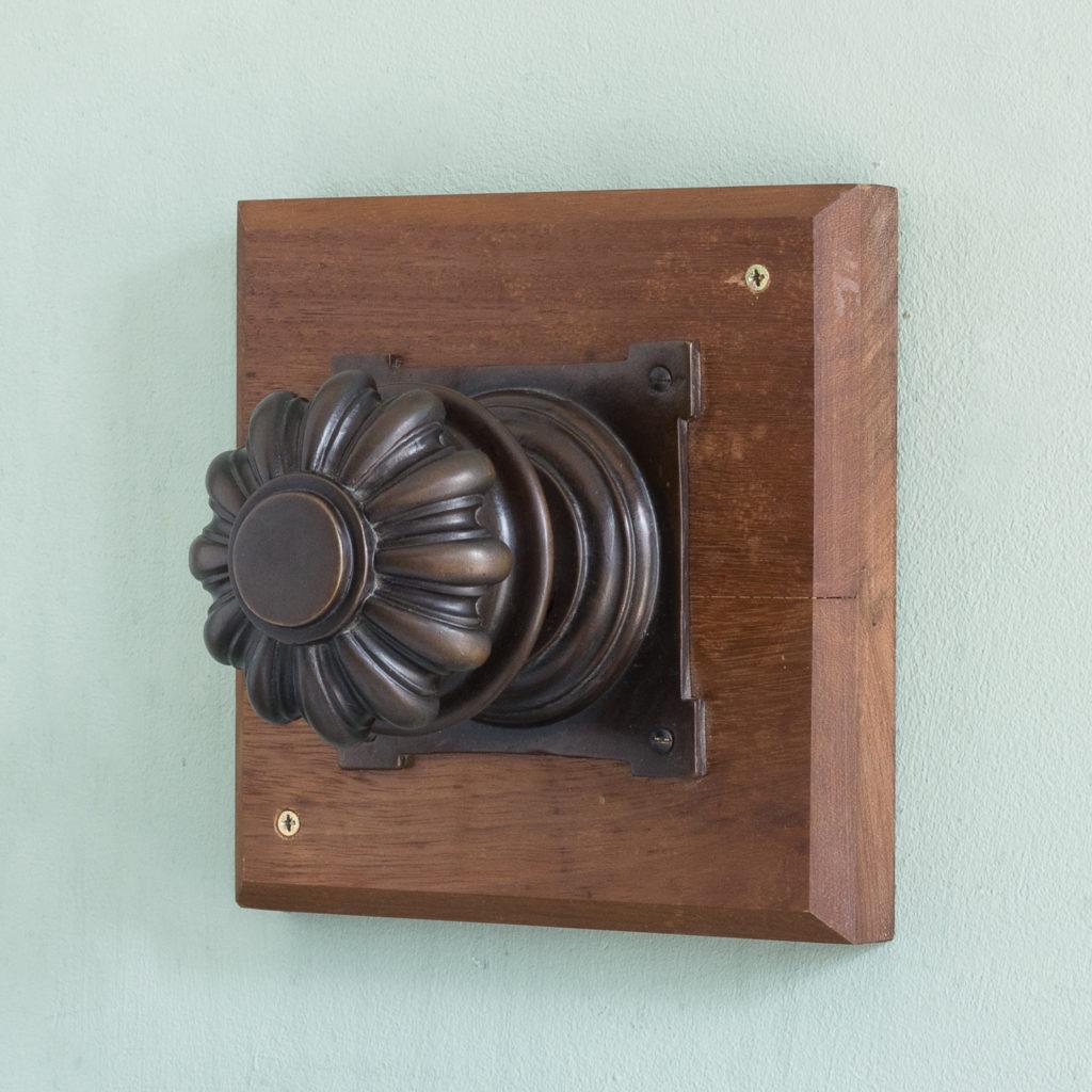 English lobed bronze door boss,-0