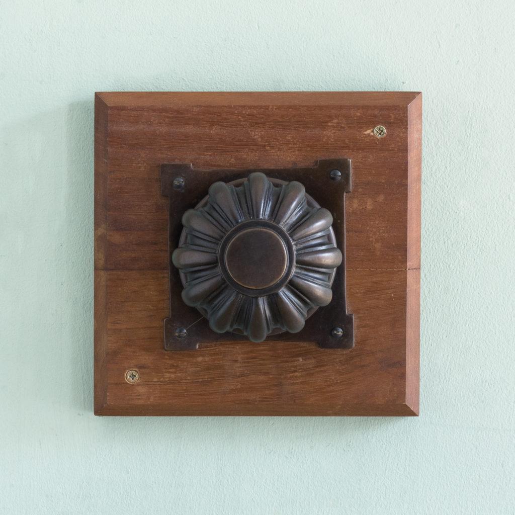 English lobed bronze door boss,-115213