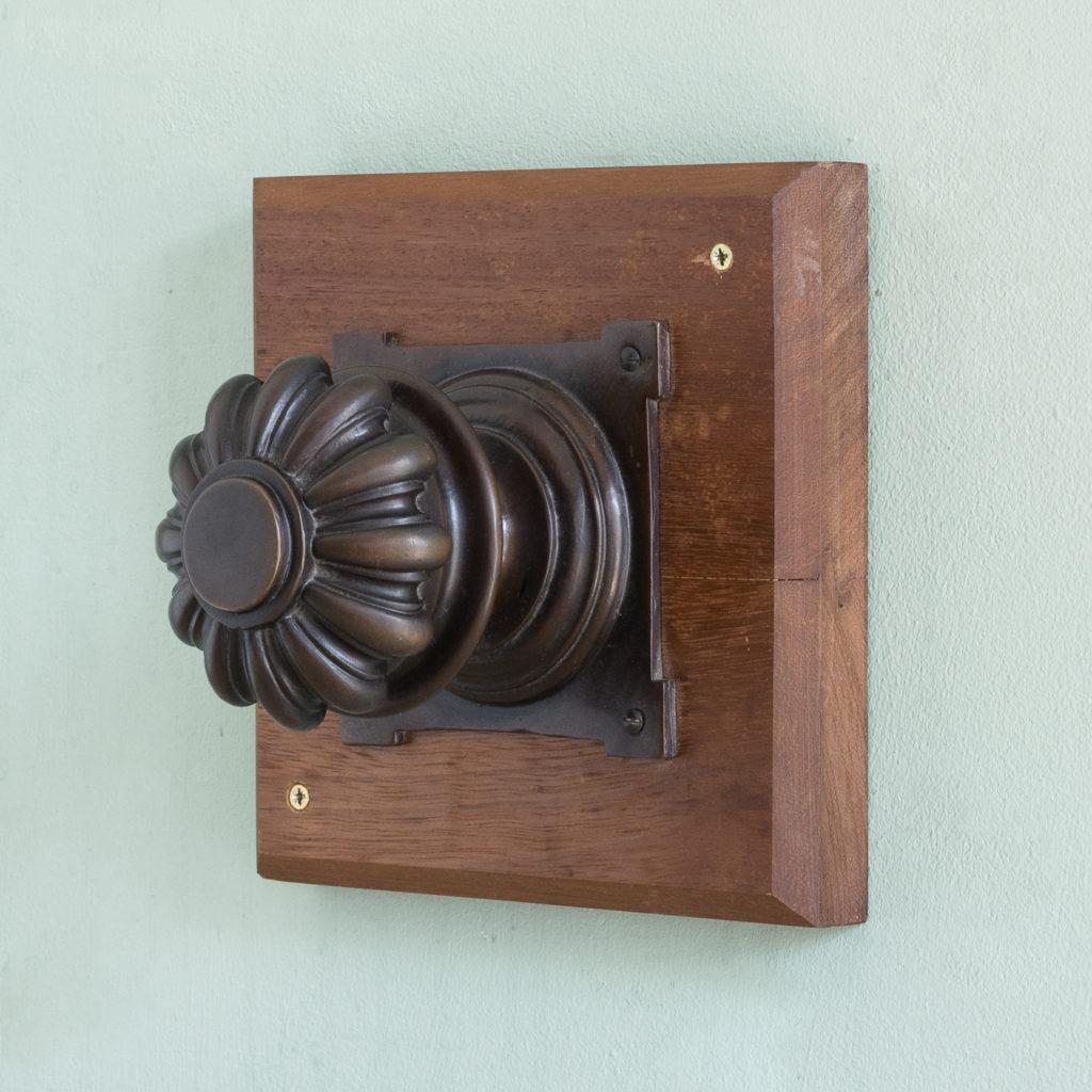 English lobed bronze door boss,-115214