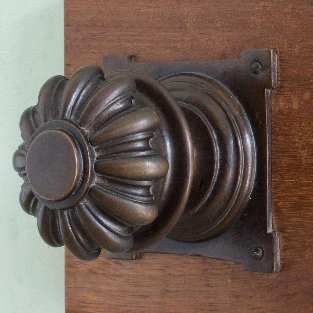 English lobed bronze door boss,-115210