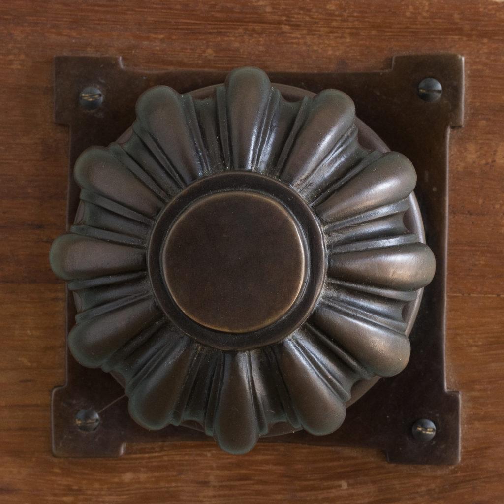 English lobed bronze door boss,-115212