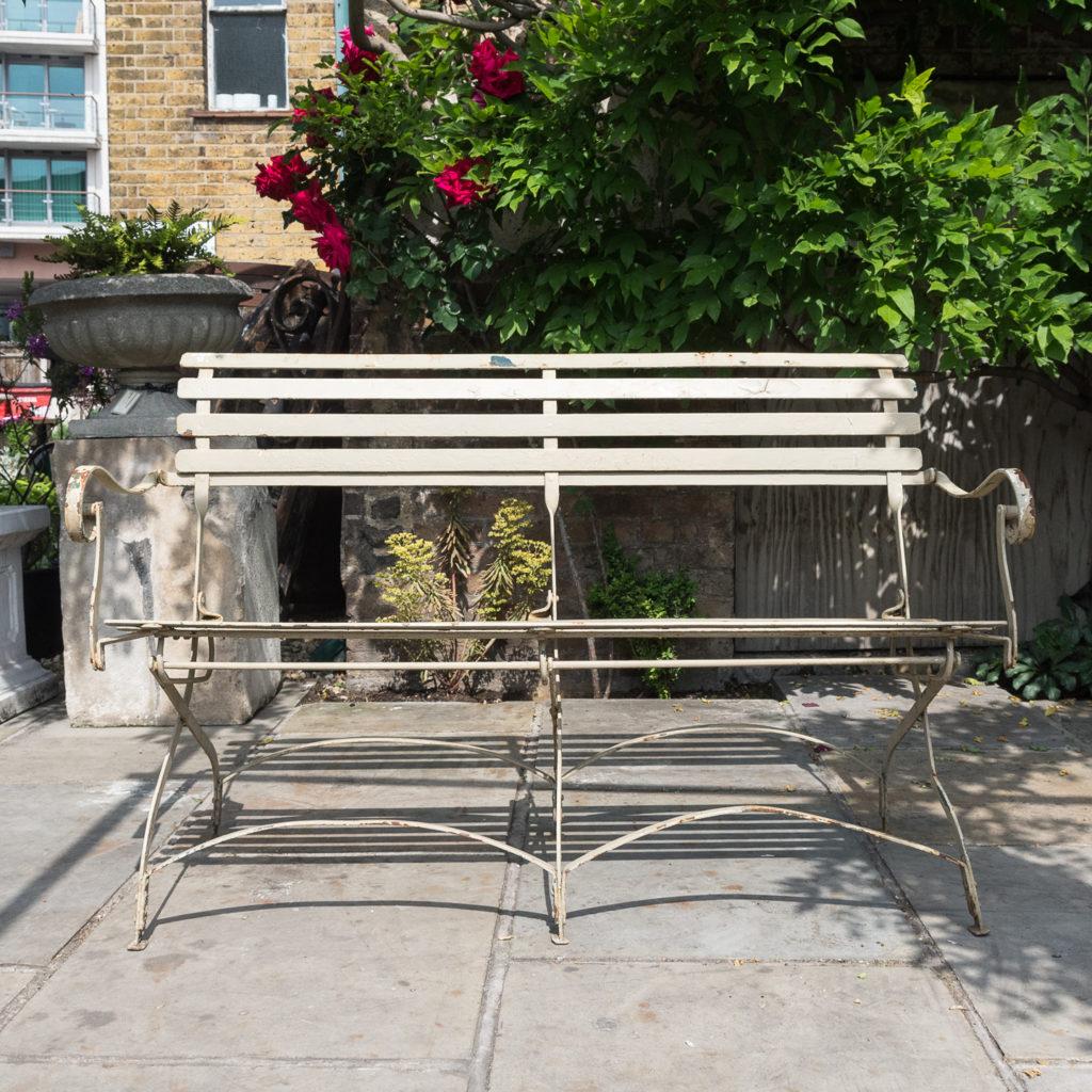 Wrought iron garden bench, -115957