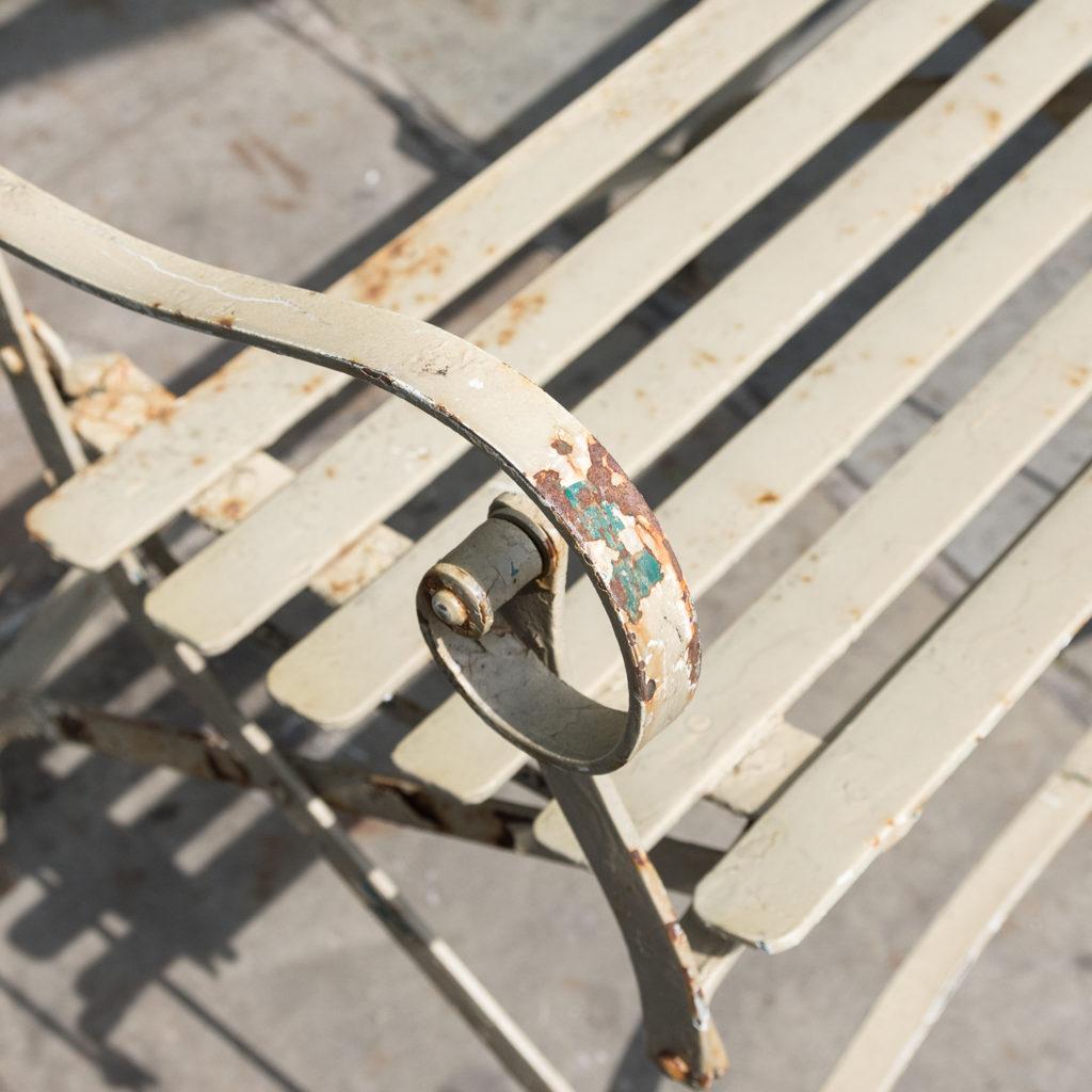 Wrought iron garden bench, -115960