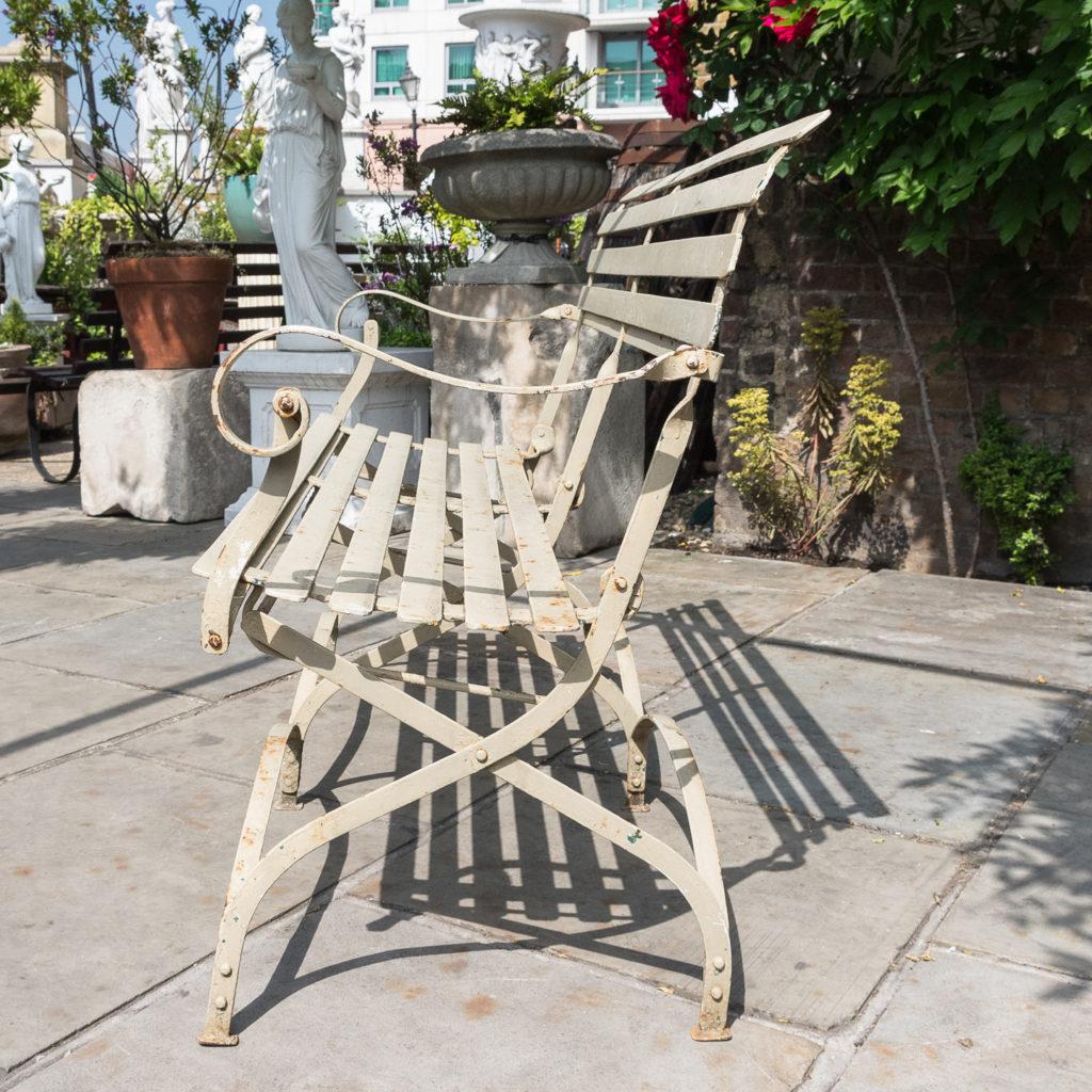 Wrought iron garden bench, -115966