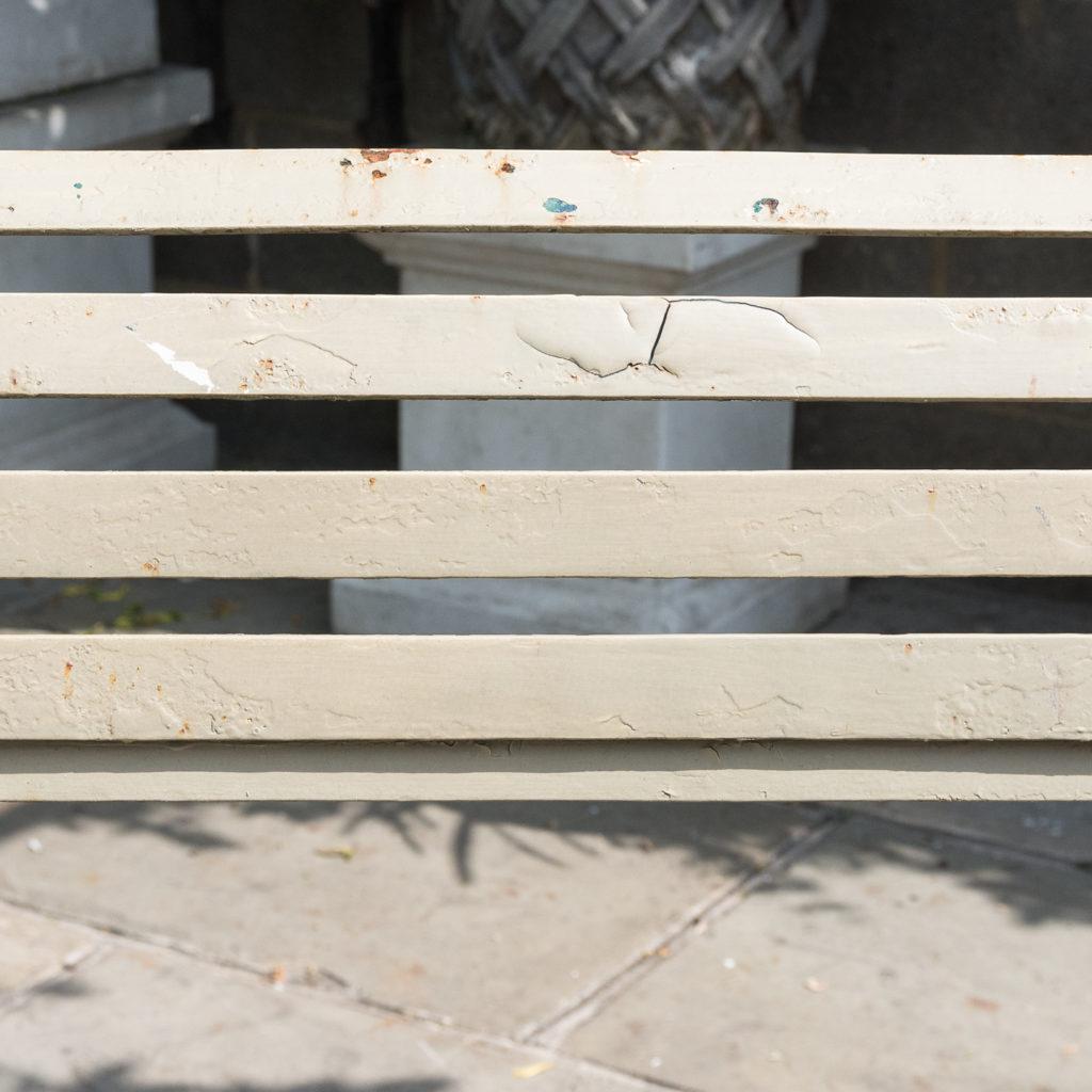 Wrought iron garden bench, -115959