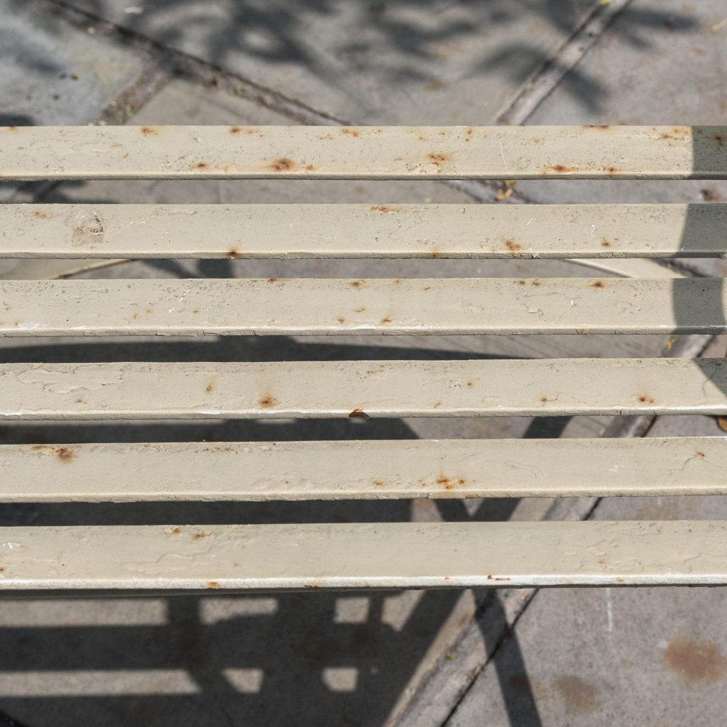 Wrought iron garden bench, -115962