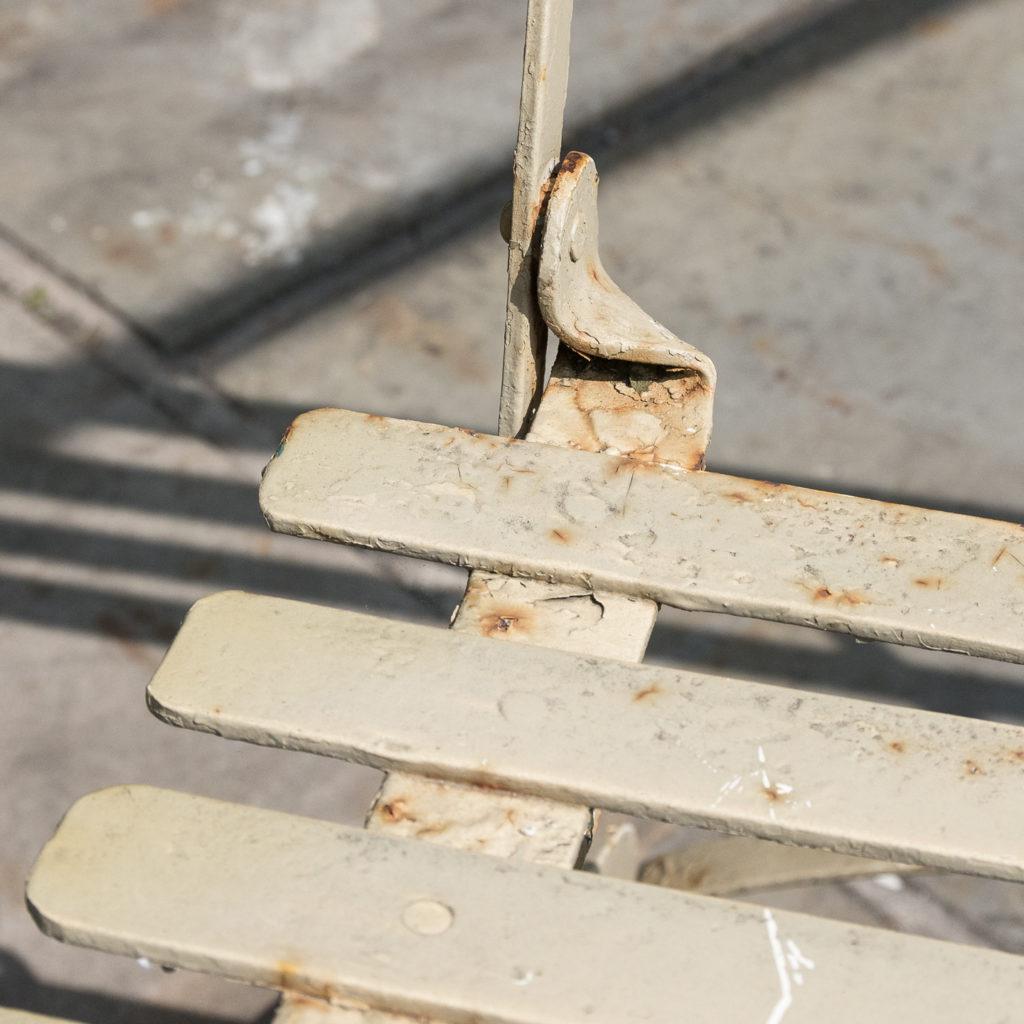 Wrought iron garden bench, -115965