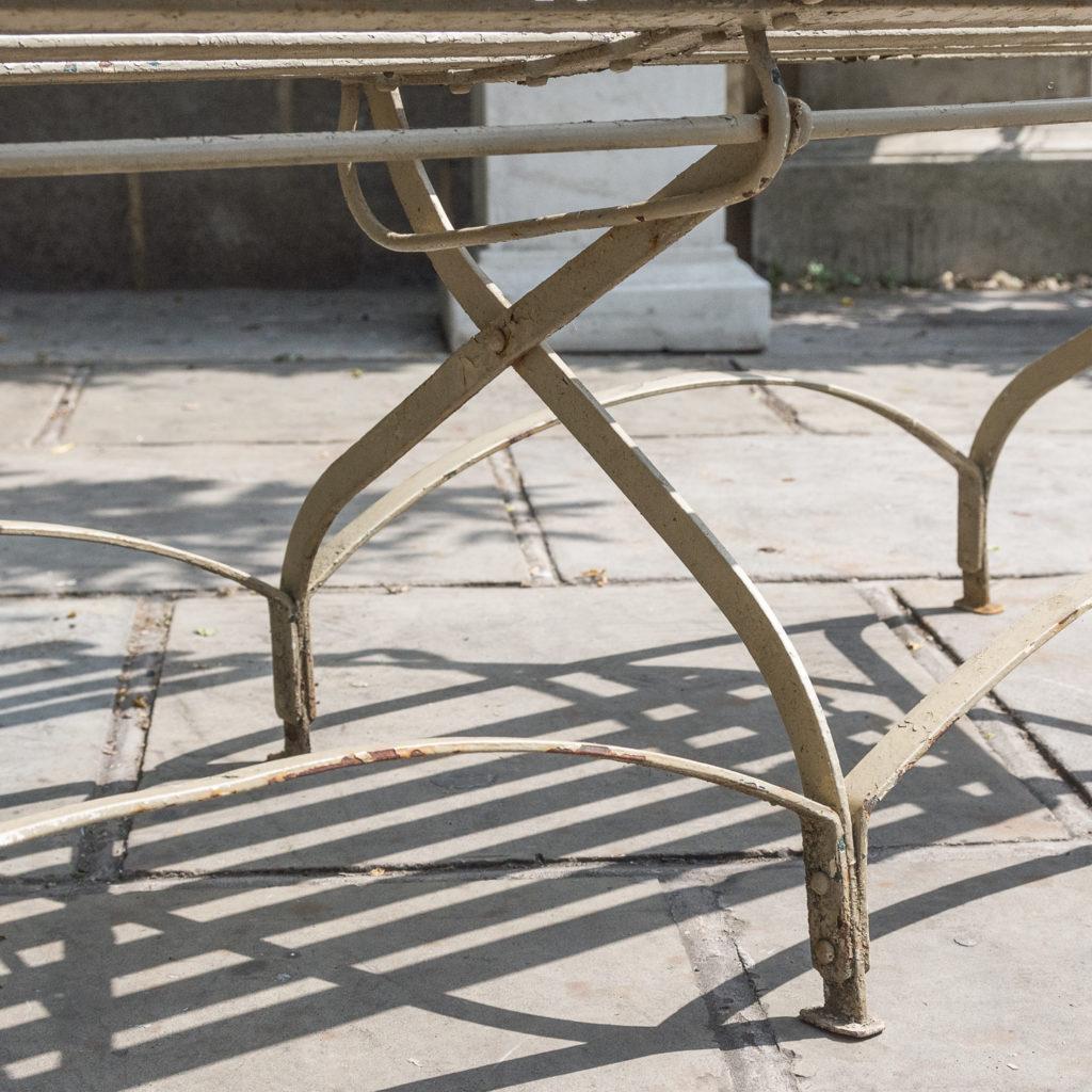 Wrought iron garden bench, -115956