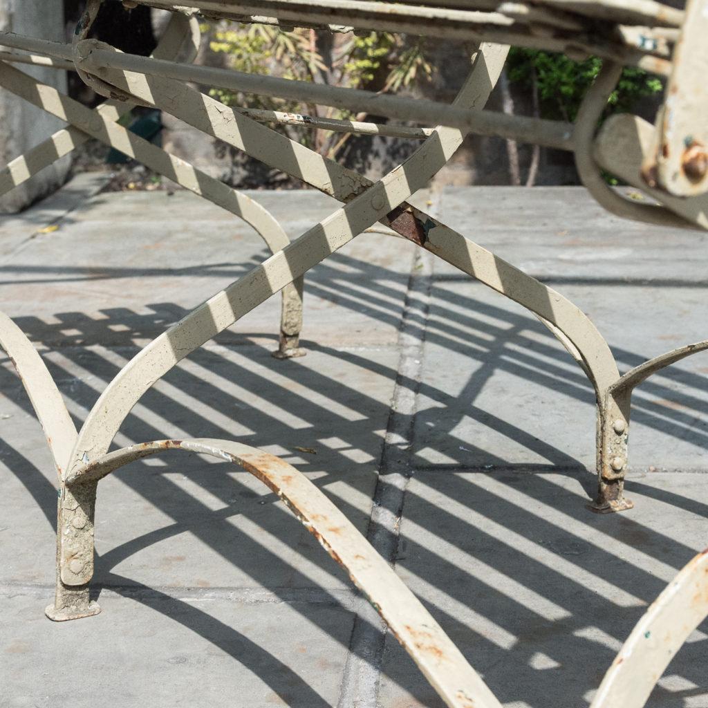 Wrought iron garden bench, -115958